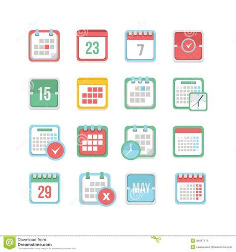 calendar icon set stock images image 34617474