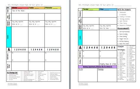 Life In Middle School Lesson Planning Format Middle School Student Planner Template