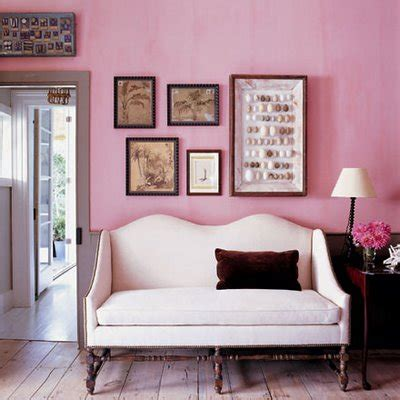 pink accent wall interiorly