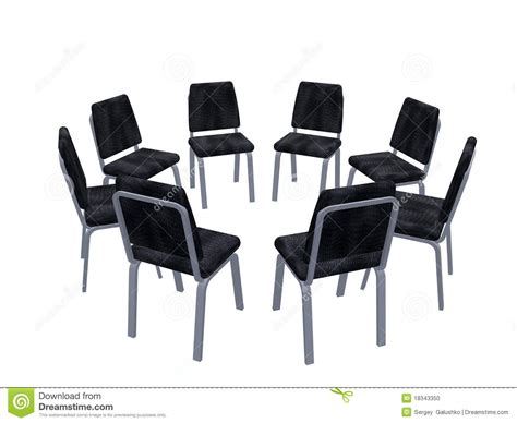 armchairs placed on a circle stock photo image 18343350