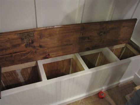 built  storage bench plans  woodworking