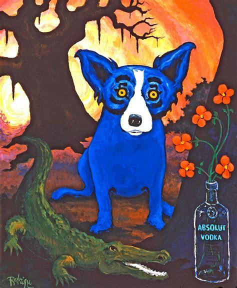 blue puppy musings of an artist s absolut blue
