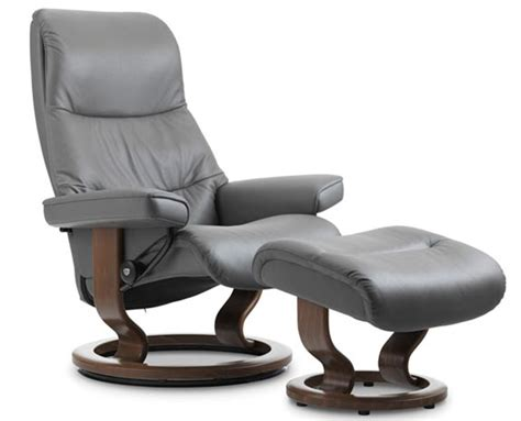 Classic Recliner Chairs by Stressless View Signature Base Recliner And Ottoman By