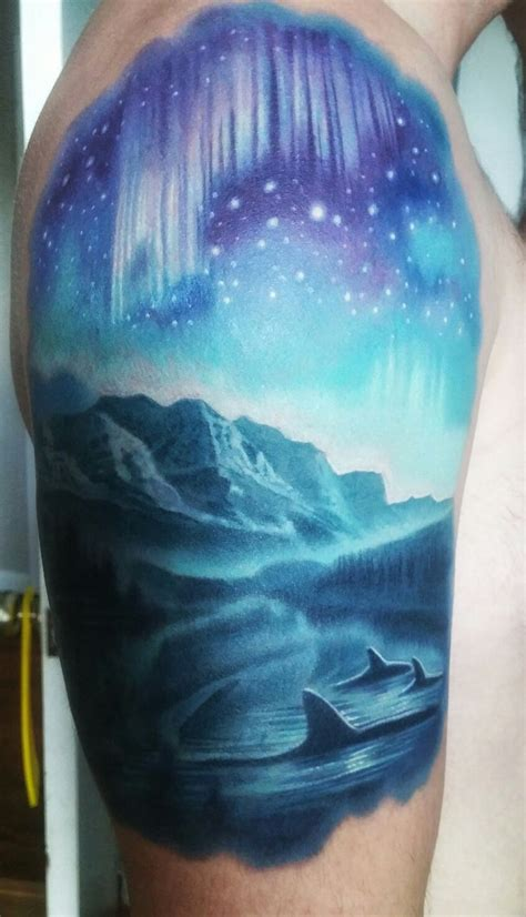 northern lights tattoo best 25 northern lights ideas on