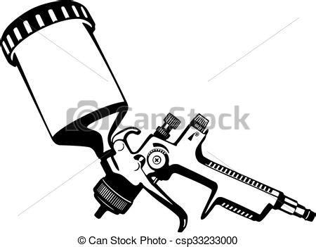 Paint Spray Gun Drawing