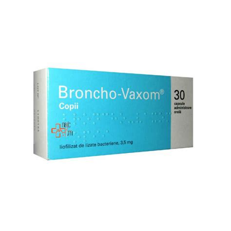 Broncho Vaxom For broncho vaxom copii 3 5mg x 30cps farmacie