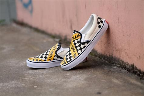 Amac Usa Vans Usa Amac Customs Checkerboard Slip On Classic Yellow