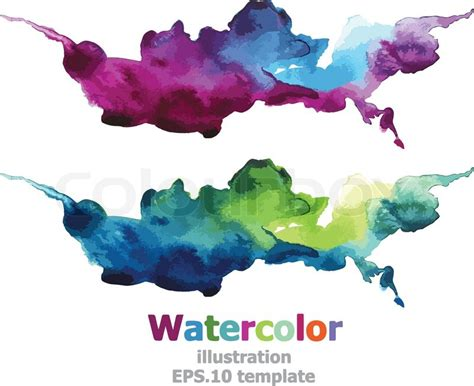 Abstract watercolor : vector   Stock Vector   Colourbox