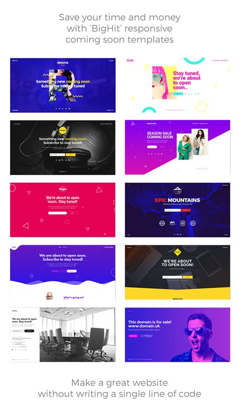 free responsive muse templates bighit 11 in 1 coming soon responsive muse templates