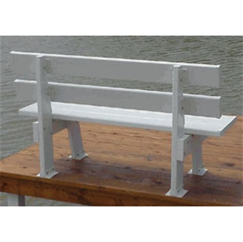 dock bench brackets pier bench
