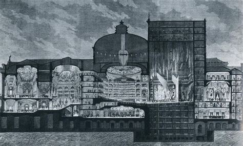 Opera Sections by A Cross Section Of L Opera Garnier