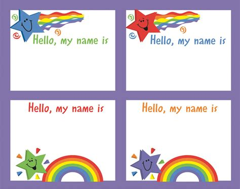 preschool name tag templates 6 best images of name tag templates printable preschool