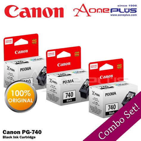 Cartridge Original Canon 740 best buy for 3 3x canon pg 740 black ink cartridge lazada malaysia