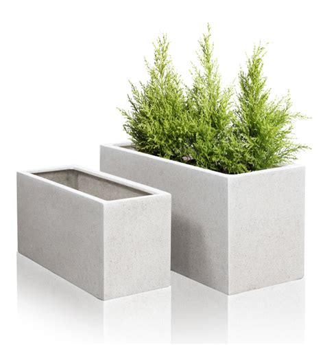 Terrazzo Planters by White Poly Terrazzo Trough Planter Set Of 2 H50cm X