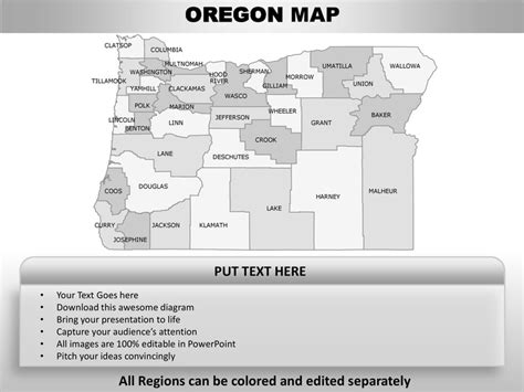 oregon state powerpoint template usa oregon state powerpoint county editable ppt maps and