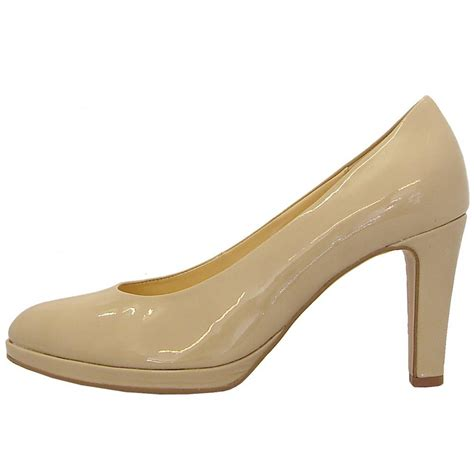 beige shoes gabor shoes splendid court shoe in beige patent