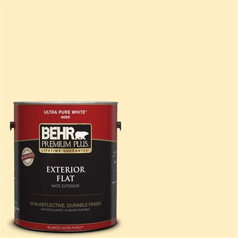 home depot behr paint yellow behr premium plus 1 gal 380a 2 moonlit yellow flat