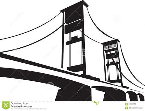 design jembatan ampera bridge stock vector image 66337418