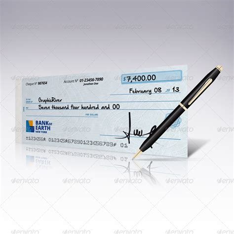 mockup cheque design check book mock up by doghead graphicriver