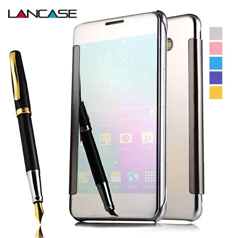 Casing Cover Samsung Galaxy A7 2016 Ultrathin Mirror Tpu Softcase lancase for samsung a5 2016 mirror smart sleep pu leather flip for samsung galaxy a5
