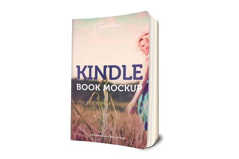 Kindle Paperback Book 3d Mockup Covervault Kindle Paperback Template