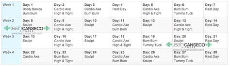 Brazil Lift Calendar Beachbody Fitness Program Calendar Schedule Fitness