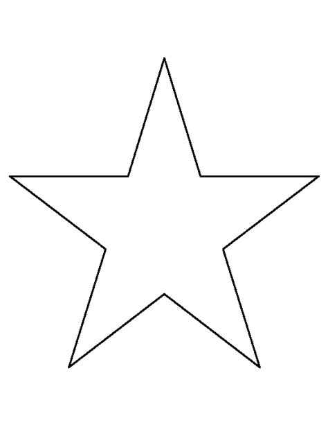 printable star a4 8 inch star pattern use the printable outline for crafts