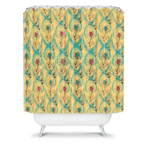 mustard shower curtain njeri designs twisting feathers shower curtain feathers