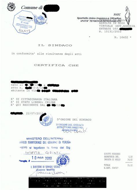 certificato di soggiorno search results for richiesta certificato matrimonio