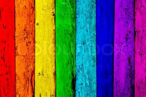 multi colored multicolored wooden planks background stock photo