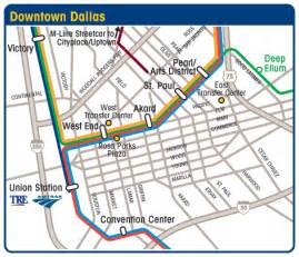 map of downtown dallas dart org downtown dallas maps and routing of buses