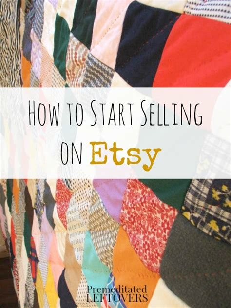 How To Start Selling Handmade Items - how to start selling on etsy