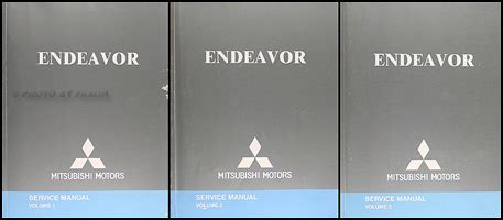 motor auto repair manual 2005 mitsubishi endeavor parental controls 2005 mitsubishi endeavor repair shop manual original 3 vol set