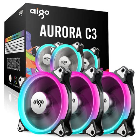 Remot Fan Casing Aigo And aigo c3 c5 pc cooling fan computer cooler rgb 120mm silent adjustable dhl ebay