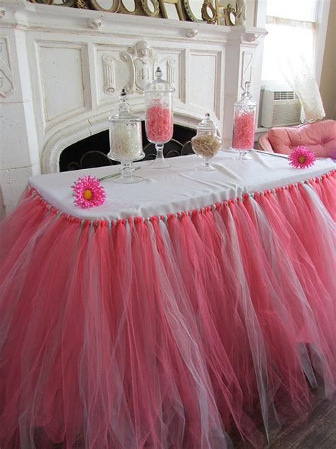 coral mint custom tutu table skirt by pinksugartutus on etsy