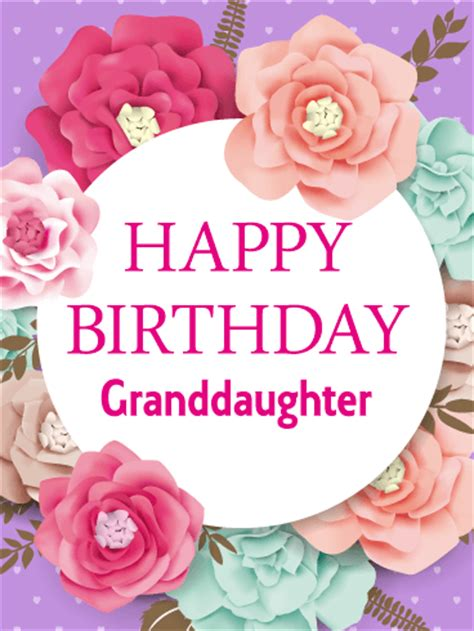 imagenes happy birthday granddaughter gorgeous flower happy birthday card for granddaughter