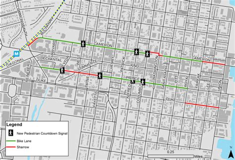 washington dc lanes map town alexandria is getting more bike lanes in may