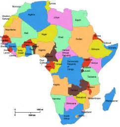 Countries Of Africa Map by Africa Countries