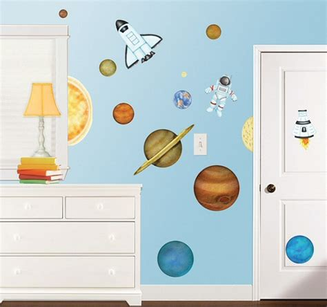 outer space wall stickers in outer space roomfx wall decals