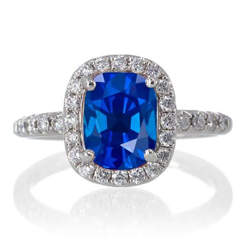 1 5 carat cushion cut sapphire antique engagement