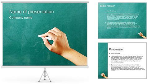free ppt templates for writing writing on chalkboard powerpoint template fonts
