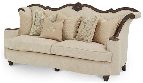 sofa palace victoria palace wood trim sofa from aico 61815 plgld 29