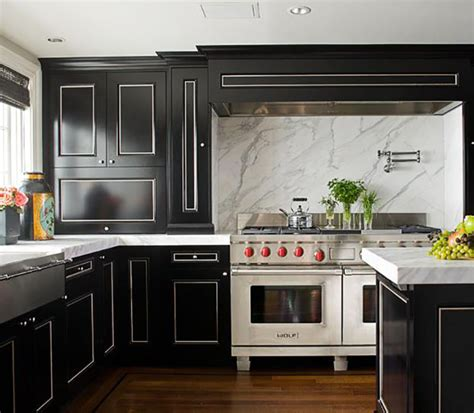 Shiny White Kitchen Cabinets | 13 foolproof ways to do black cabinets right