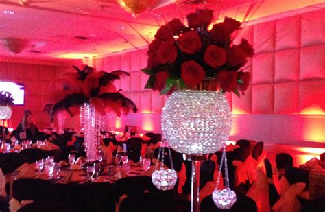 Beauty And The Beast Home Decor tall crystal and red rose centerpiece plan a party mare