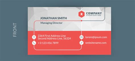 Free Business Card Design Template by Freebies Graphicloads