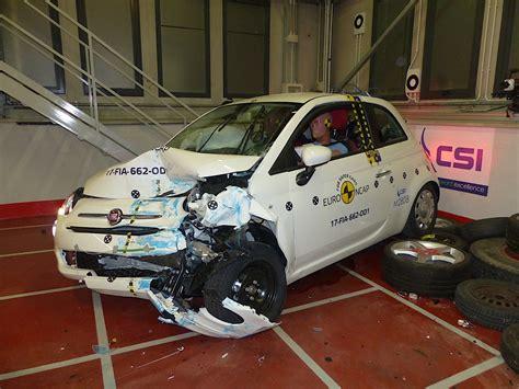 fiat 500 crash test results ncap tests the fiat 500 ford ka and citroen c3
