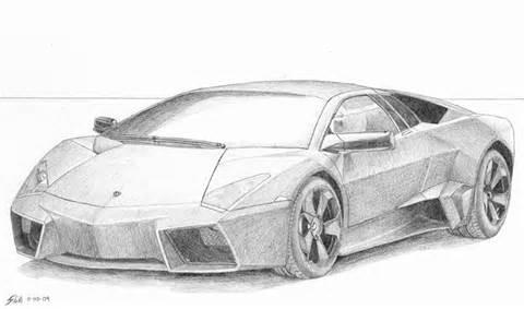 Drawing Of A Lamborghini Pencil Drawings Skitsmix Studio