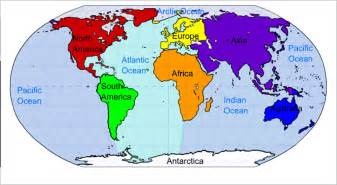 us map with continents and oceans related keywords suggestions for oceans and continents