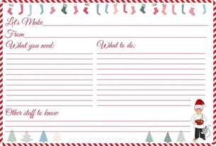 Recipe Template Printable by Free Printable Recipe Cards From Pco