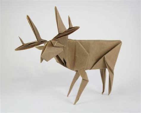 Origami Deer Diagram - deer by jun maekawa diagrams in genuine origami square